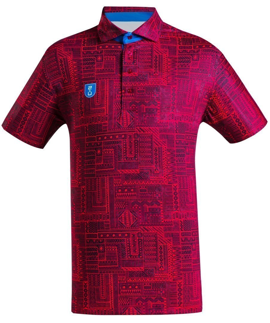 Golf Shirt - Dark Red Indigenous