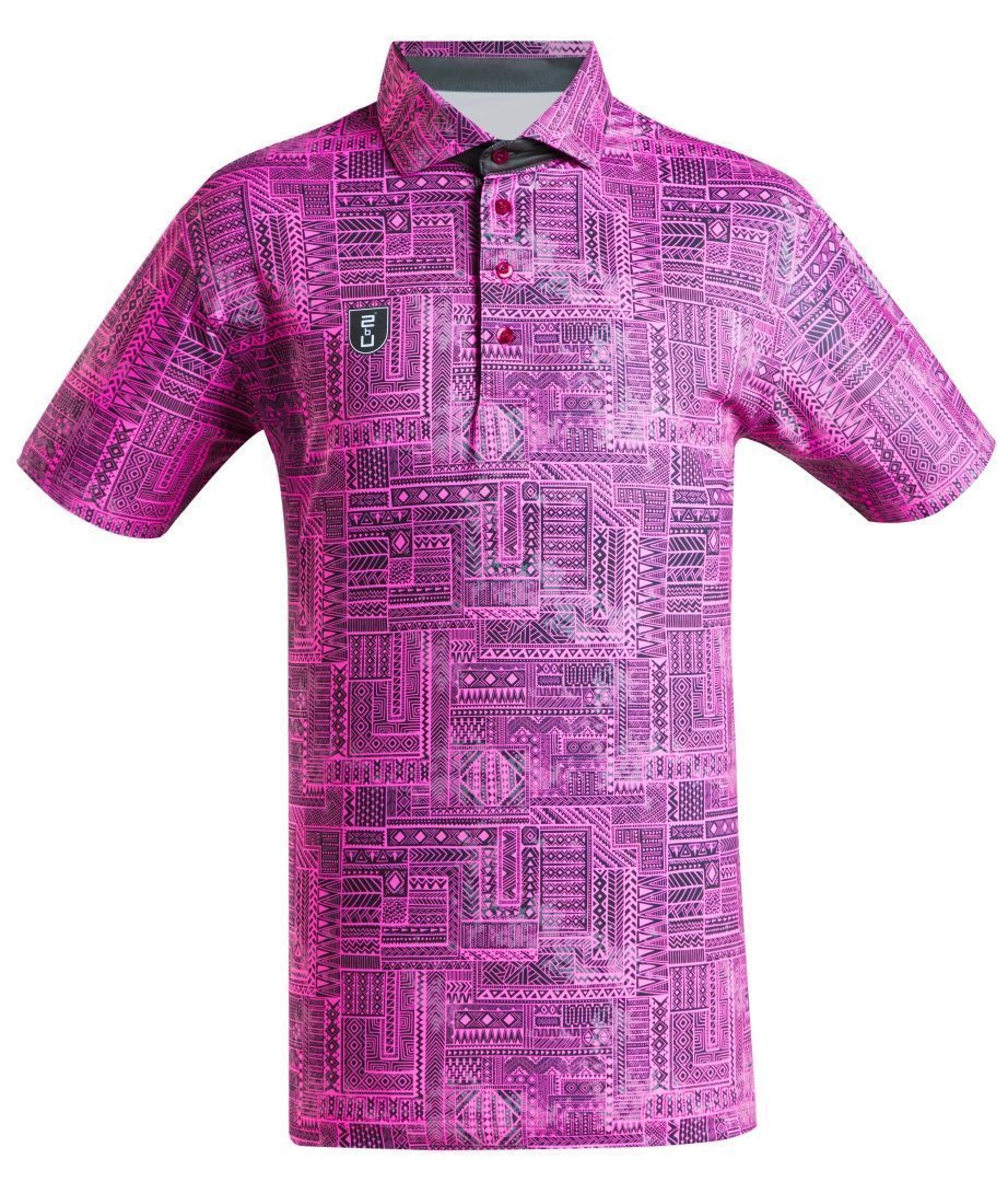 Golf Shirt - Pink Indigenous