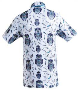 Golf Shirt - Charcoal Owl
