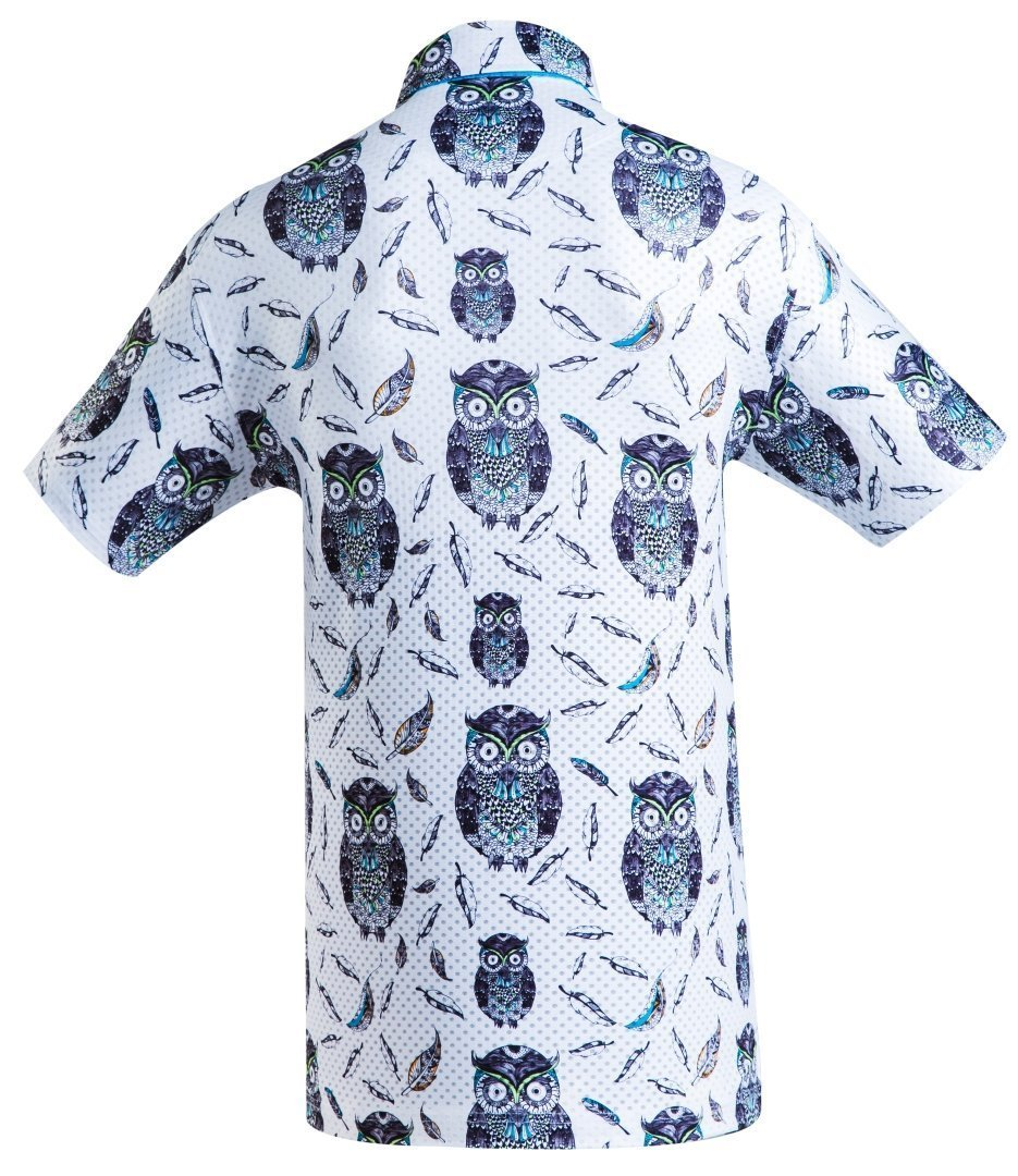 Golf Shirt - Charcoal Owl