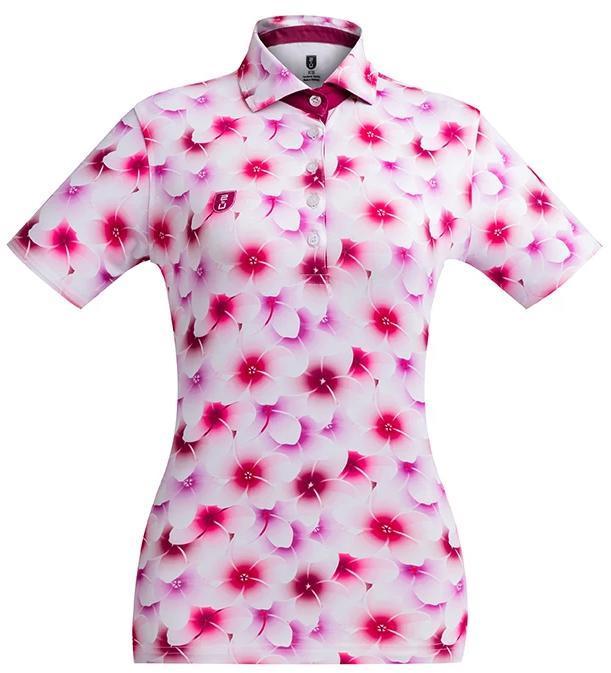 Golf Shirt – Pink Frangipani