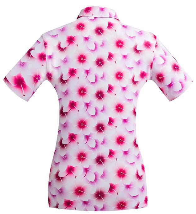 Golf shirt - Pink Frangipani