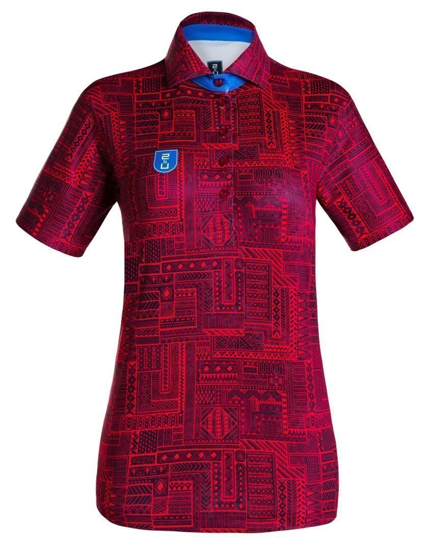 Golf Shirt – Dark Red Indigenous