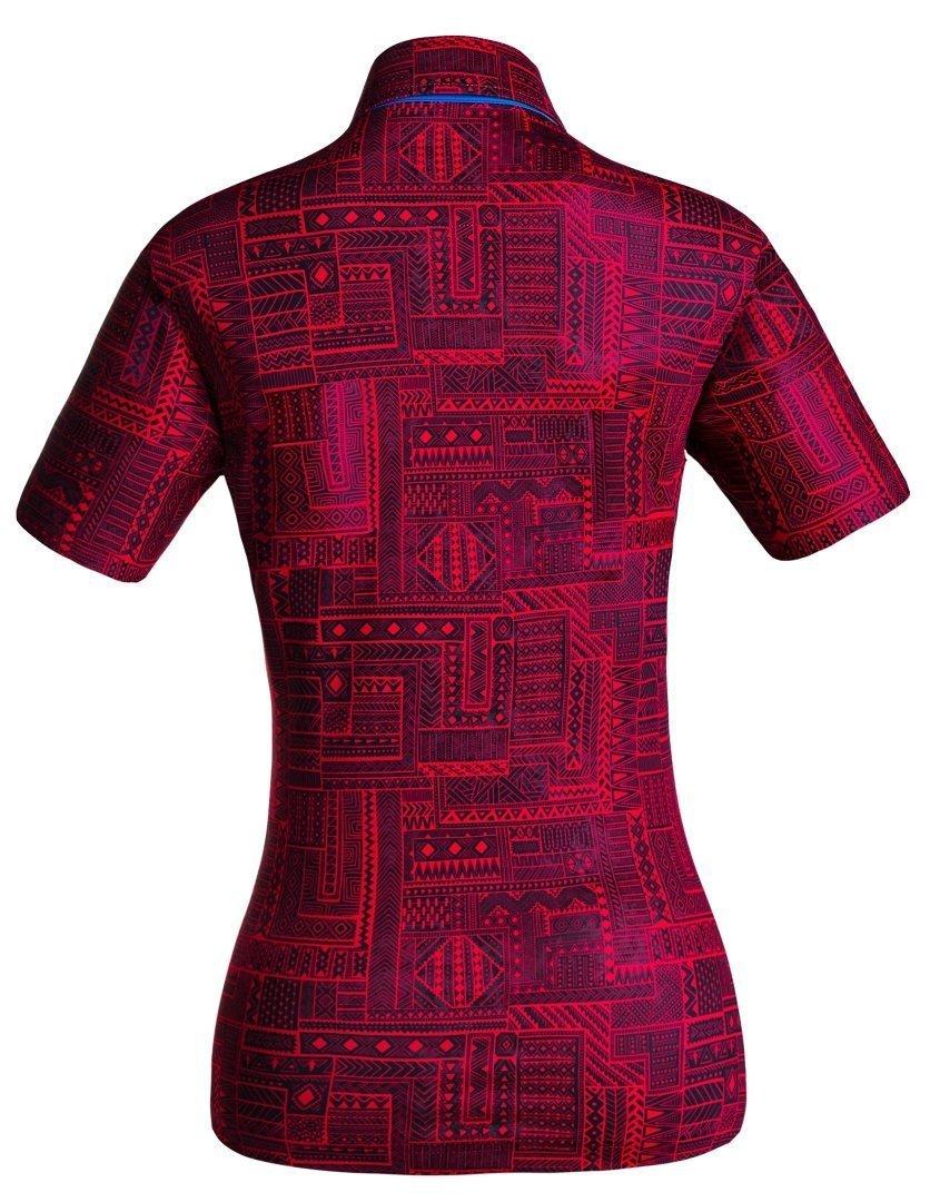 Golf Shirt - Dark Red Indigenous