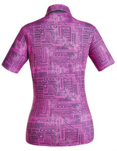 Golf Shirt - Fluoro Pink Indigenous