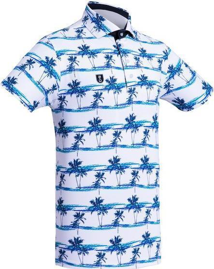 Golf Shirt - Blue Palm