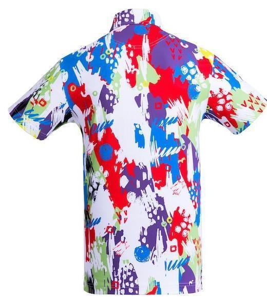 Golf Shirt - Teal Songkran