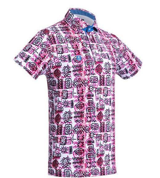 Golf Shirt - Red Indigenous 19