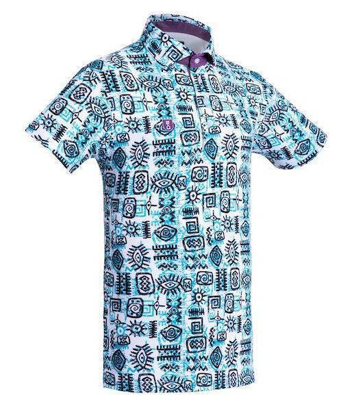 Golf Shirt – Green Indigenous 19