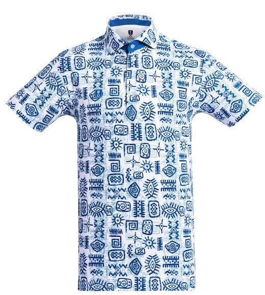 Golf Shirt – Blue Indigenous 19