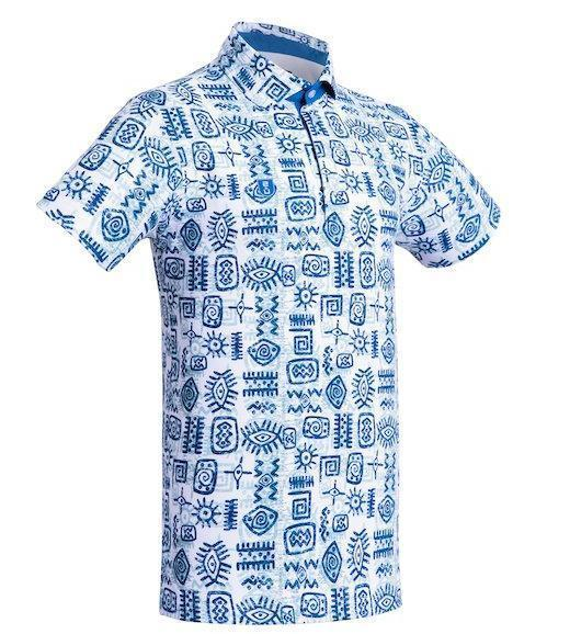 Golf Shirt - Blue Indigenous 19