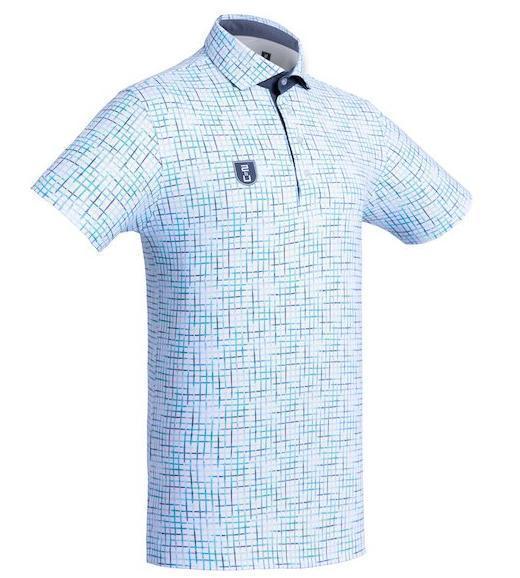 Golf Shirt - Bluish Checkered'10