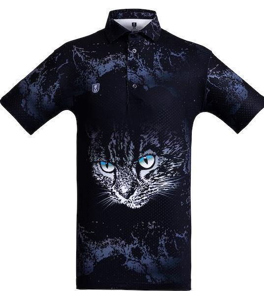 Golf Shirt – Grey Cat