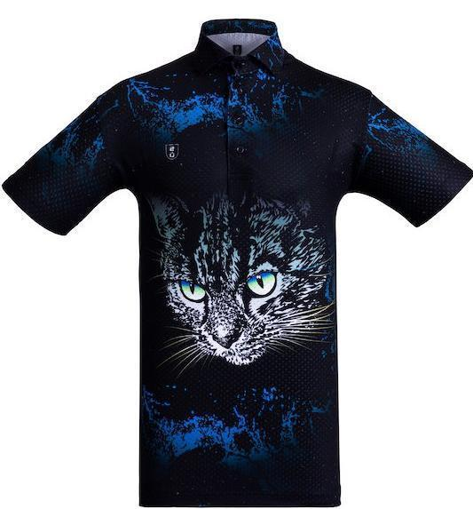 Golf Shirt – Blue Cat
