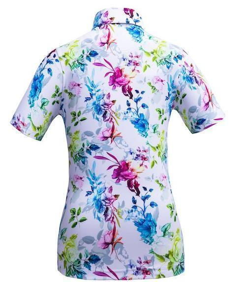 Golf Shirt - Flowers