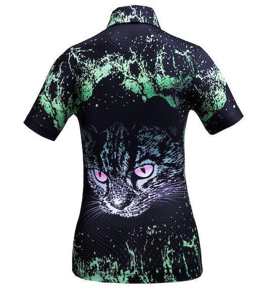 Golf Shirt - Green Cat