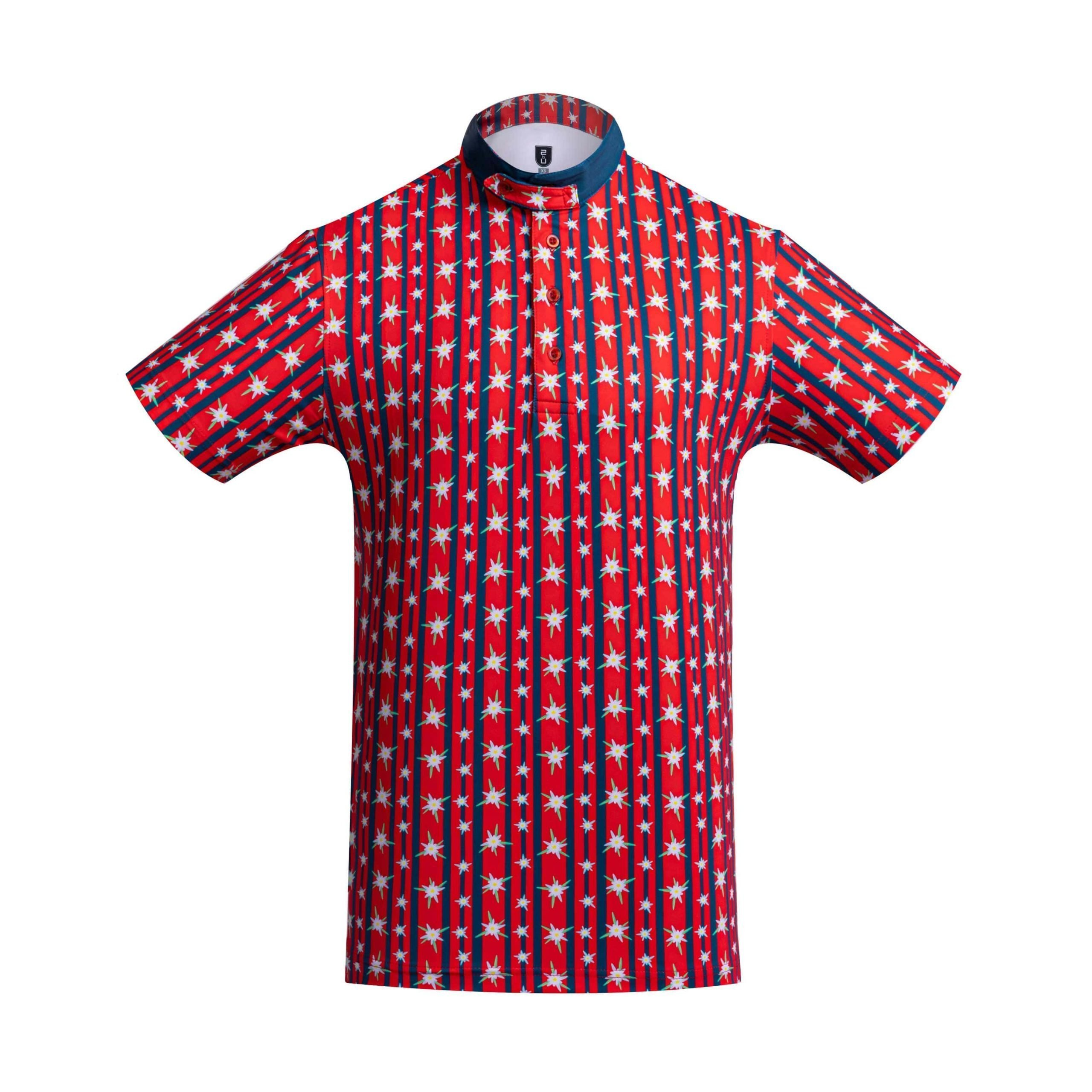 Golf Shirt – Red Edelweiss
