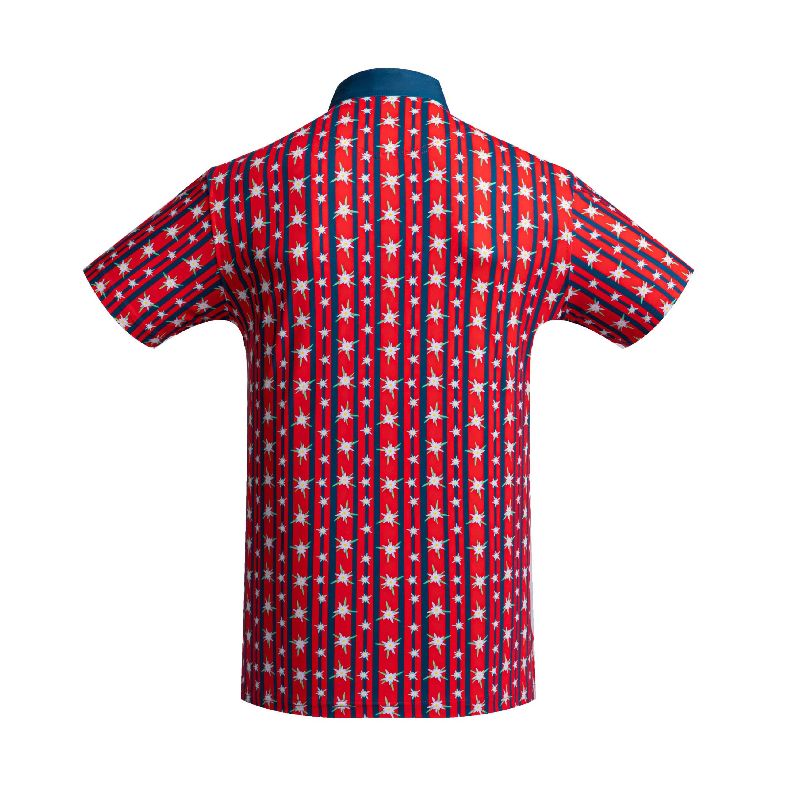 Golf shirt - Red Edelweiss