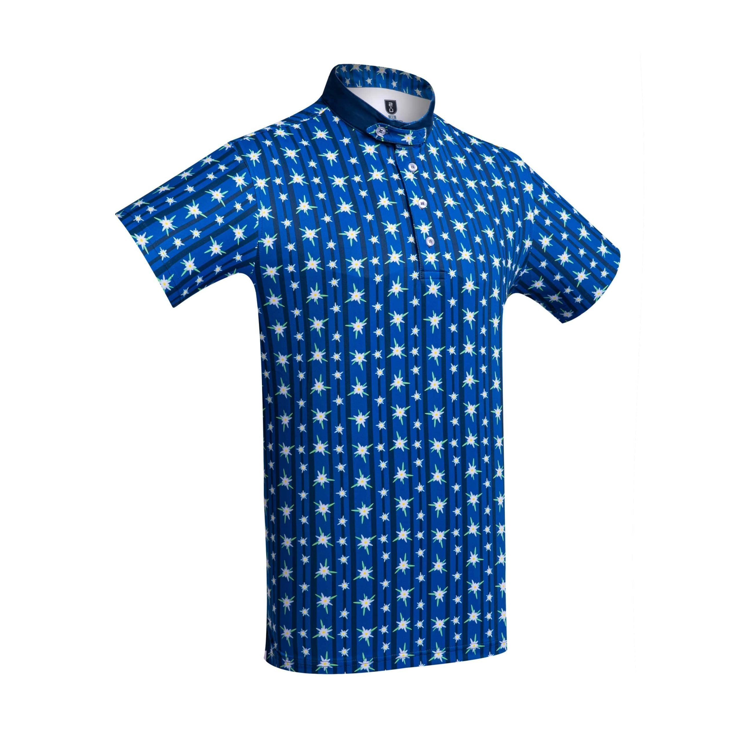 Golf Shirt – Blue Edelweiss