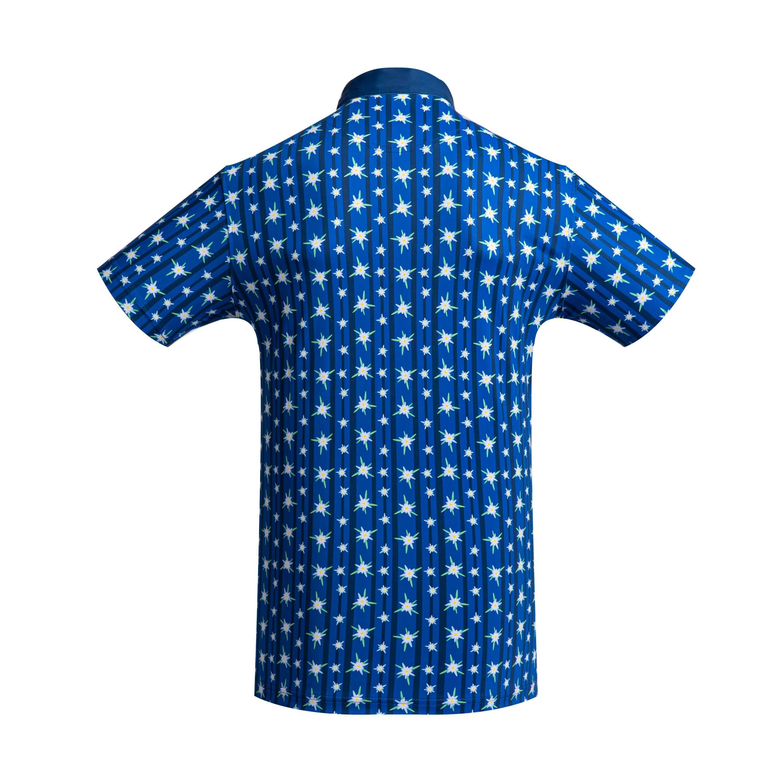 Golf shirt - Blue Edelweiss