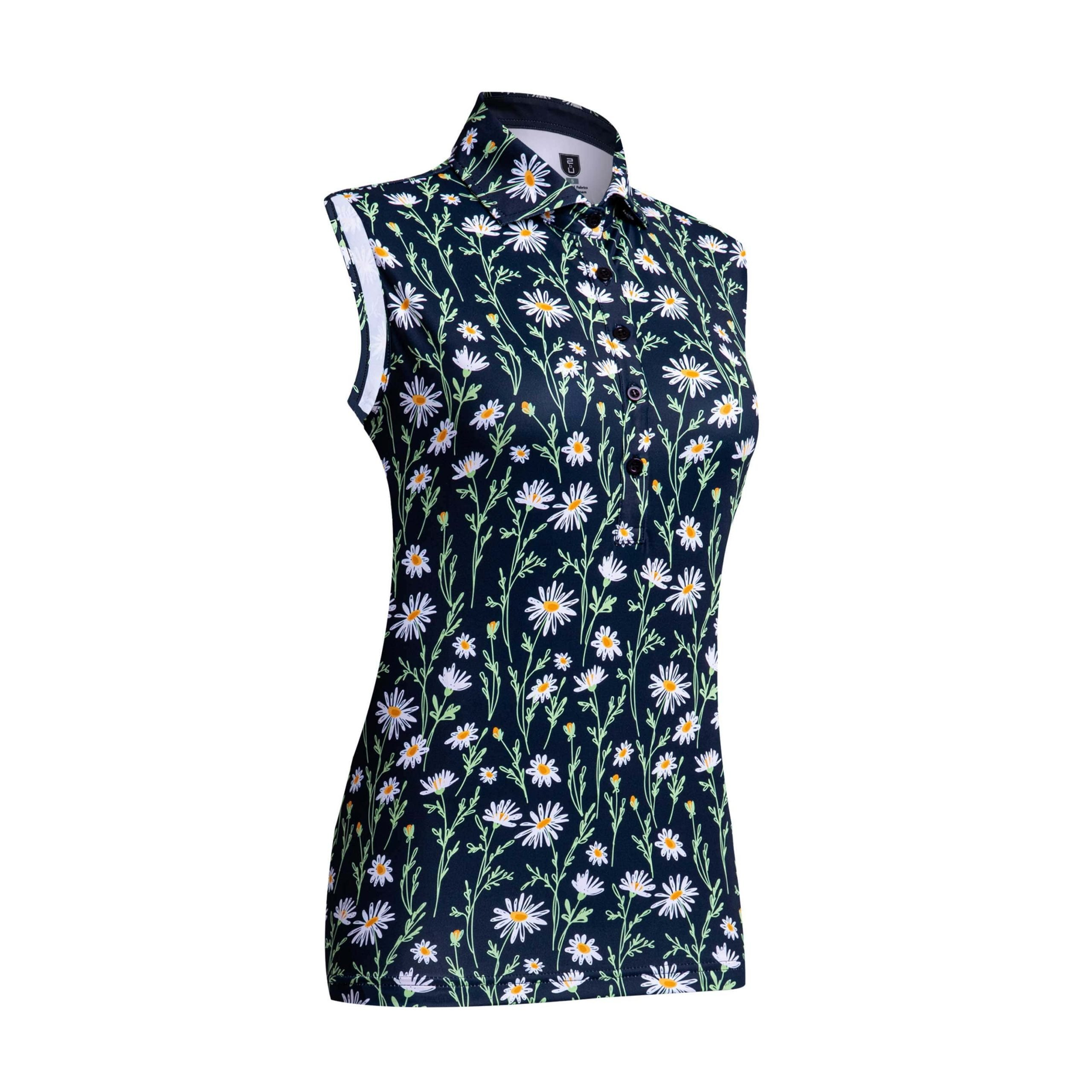 Golf shirt – Midnight Flower (sleeveless)