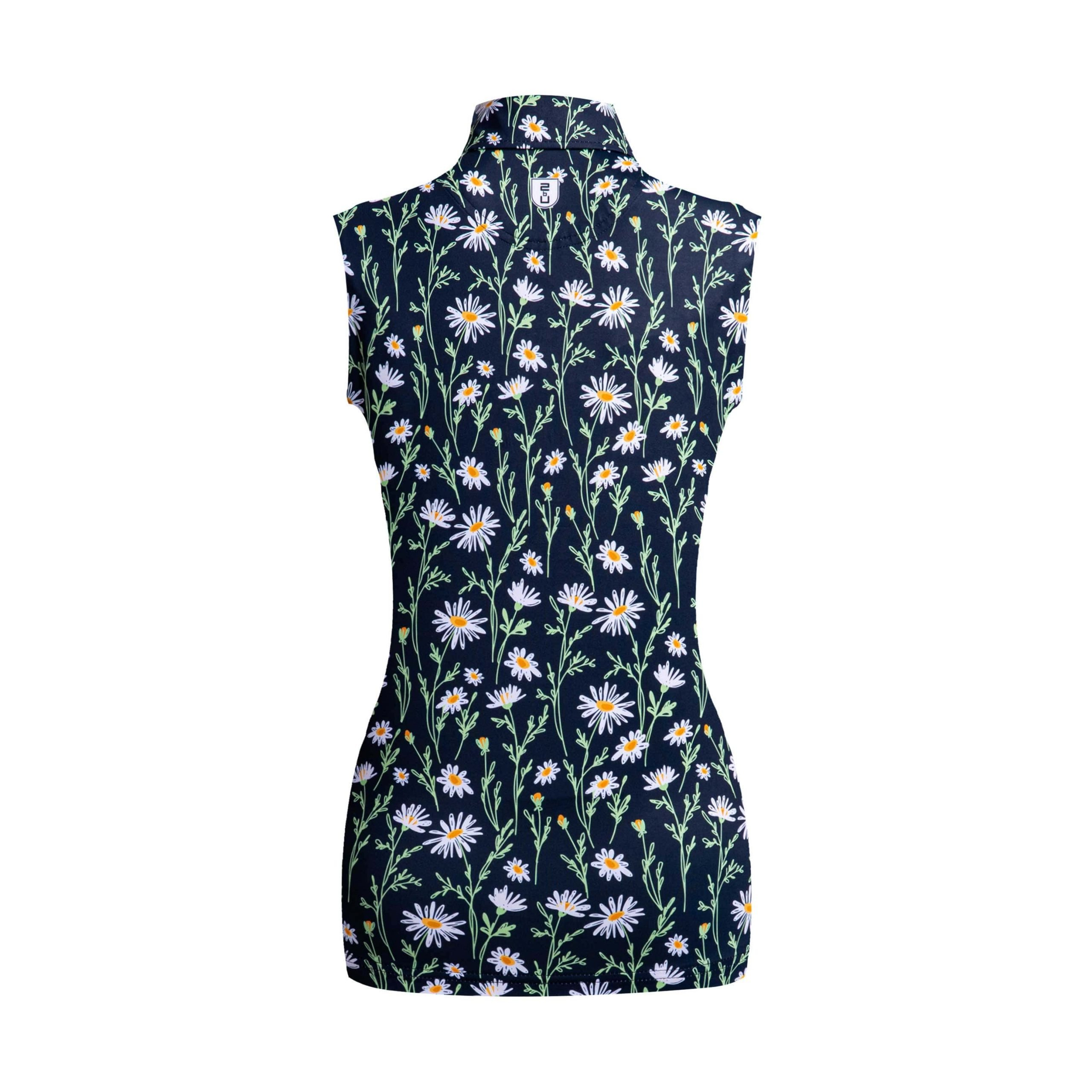 Golf shirt - Midnight Flower (sleeveless)