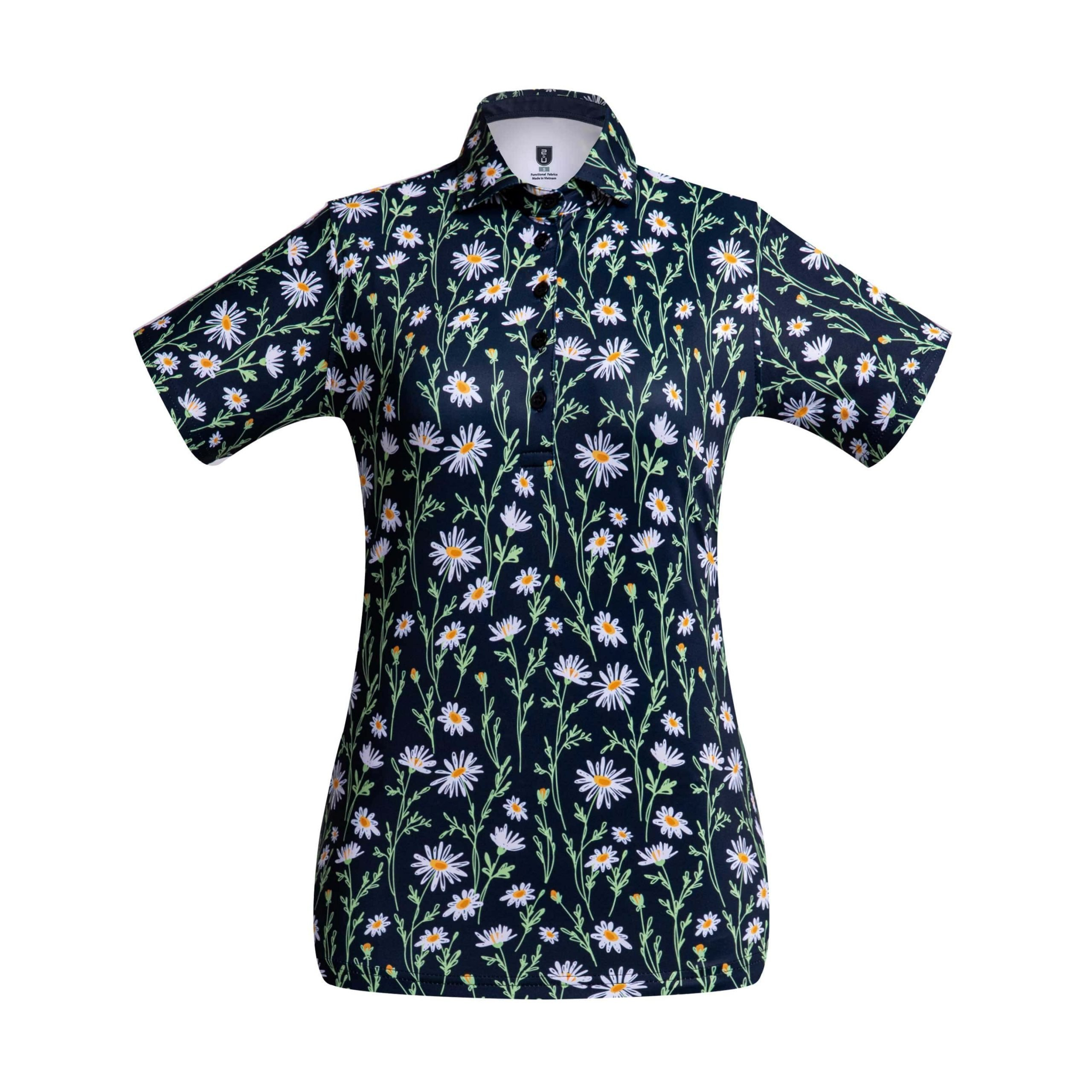 Golf shirt – Midnight Flower