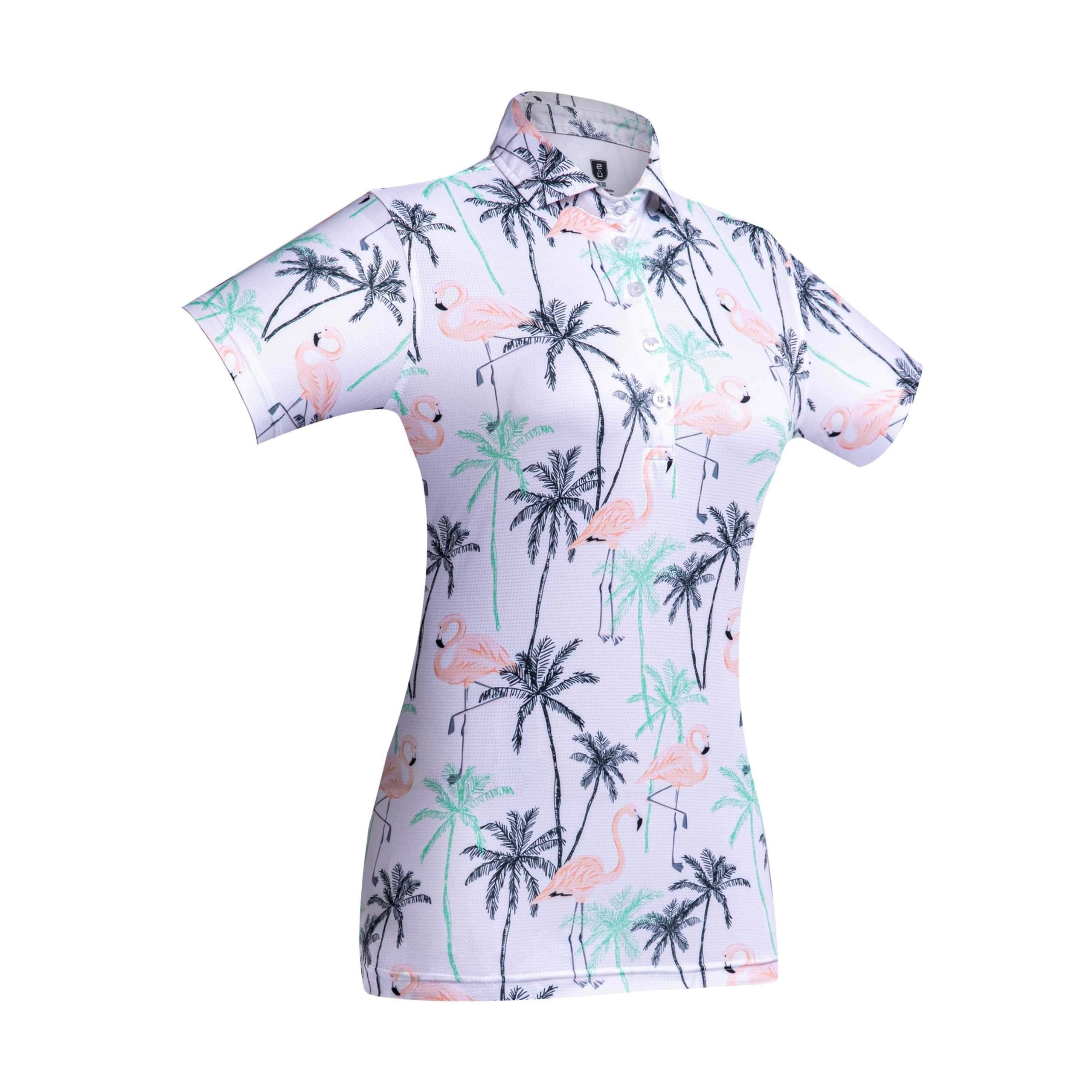 Golf shirt – Pink Flamingo