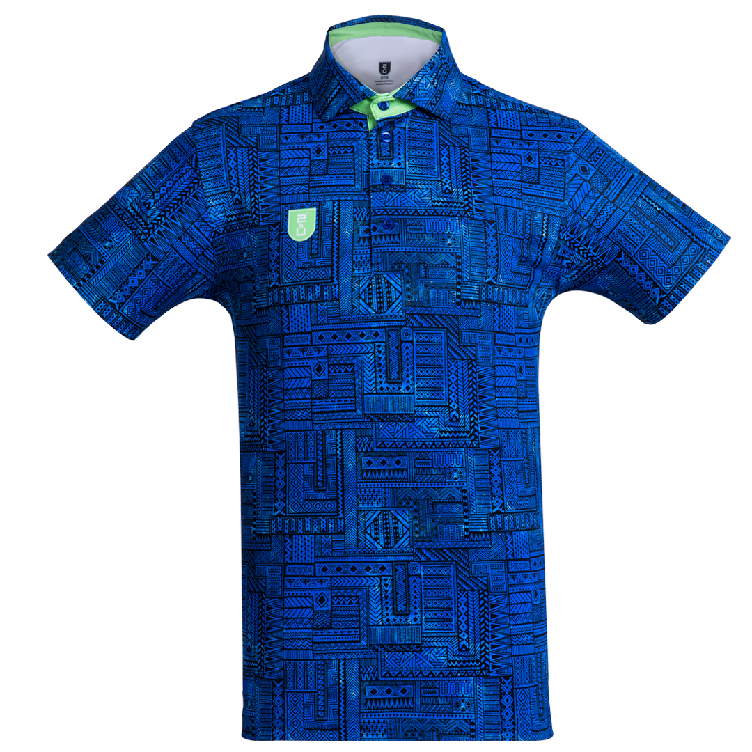 Golf Shirt – Light Blue Indigenous'19