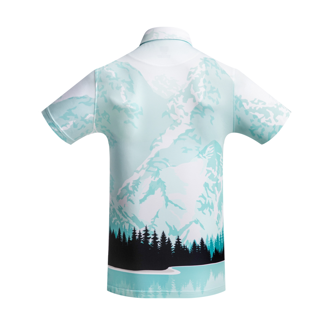 Golf Shirt - Snow mountains