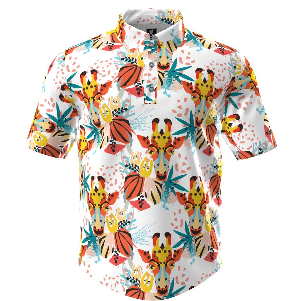Golf Shirt - Giraffes
