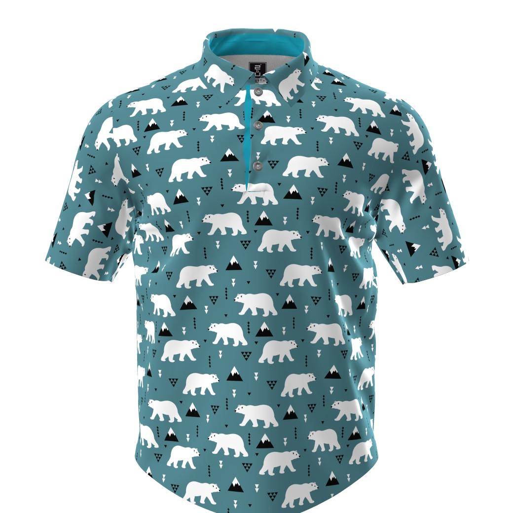 Golf Shirt - Polar Bears